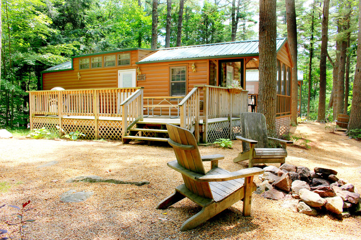 Rentals pine acres family camping resort autos post for Lake cabins for rent in massachusetts